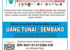 Berjamaah Lawan Corona, MBB Galang Dana dan Sembako