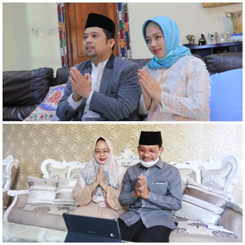 Wali Kota Tangerang Dan Wakil Silaturahmi Idul Fitri Via